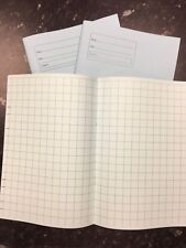 A4 Tinted Paper Exercise Books x3 Ideal For Dyslexia SEN Squared Pale Blue