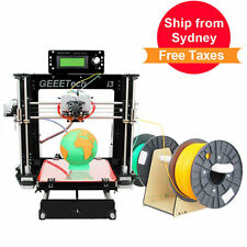 Ship from AU Geeetech Acrylic PrusaI3 Pro C 3D Printer Dual extruder MK8 LCD2004