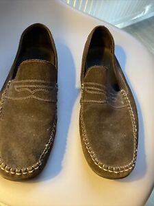 Ted baker Brown  Suede Leather Loafers Uk 10