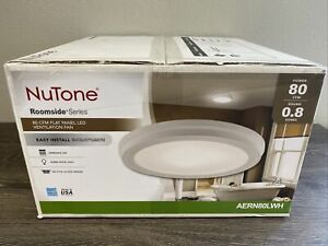 NuTone Bathroom Exhaust Fan Metal Round LED Panel Beveled Frame Ceiling White