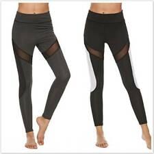 Casual Leggings Fitness Pants Women Mesh High Waist Push Up Sport Pants 6A