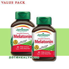2 x Jamieson Melatonin 10 mg Timed Release Dual Action, 60 caplets