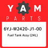 6YJ-W2420-J1-00 Yamaha Fuel tank assy (24l) 6YJW2420J100, New Genuine OEM Part