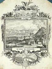 UNGARN - VISEGRAD - Belagerung 1684 - Leclerc - Radierung 1690