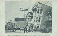SAN FRANCISCO CA – Howard and Eighteenth Earthquake Destruction – udb (pre 1908)