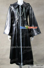 Organization XIII 13 Cosplay Costume Black Leather Coat H008