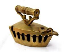 Rare Antique Vintage Brass Iron Box Miniature