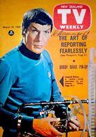 TV Guide 1968 Star Trek Mr. Spock Nimoy International TV Weekly New Zealand COA