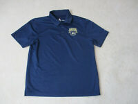 Adidas Notre Dame Fighting Irish Polo Shirt Adult Large Blue Gold Football Mens