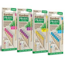 Bamboo Piksters Right Angled Interdental Brushes 6 Pack Choose Size 00, 1, 3, 5