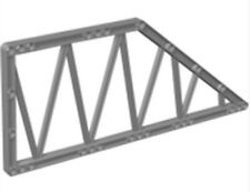 LEGO  Frame 13x13 Ø4.85, Lattice (55767)_Medium Stone Grey _4293986 (Lot of 2)