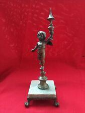 Statuette Figur Engel aus Bronze auf Marmorsockel Ref43280