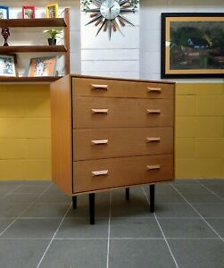 Vintage Mid Century Stag Concord C Range Chest of Drawers by John & Sylvia Reid