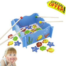 Sensory Motor Skills Toys Kids Magnetic Rods and Fish Game Autism Special Needs
