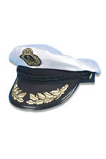 Deluxe Sailors Captain Hat Nautical Navy Pilot Fancy Dress Costume Accessory