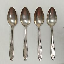 Oneida Adam Community Plate Tea Spoons Lot of 4, Silverplate Flatware Silverware