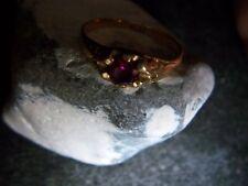 sehr eleganter fein verzierter Rubin Brilliant Ring 585er Gold traumhaftes Rot
