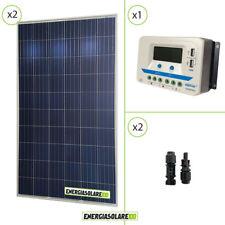 Kit solare 24V due pannelli 270W PV 540W regolatore di carica 30A Epsolar con pr