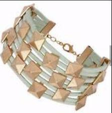 BNWT Topshop Studded Green Fabric Wristwear Bracelet RRP £12.50