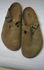 Birkenstock Mens Boston Brown Suede Slides EUR 46 size 13-13.5