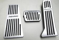 for mazda 3 mazda 6 Aluminum Foot Rest Pedal Pads Fuel Brake footboard 2014-18