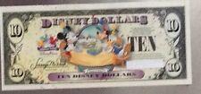 "Disney DOLLARS $10 TEN ""MAKE A WISH"" 2009 CELEBRATE TODAY MINT Uncirculated"