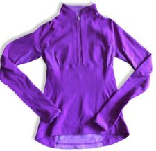 LULULEMON Run Switch Back Zip Pullover size 6 Reversible Heathered Ultra Violet
