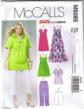 Womens Top Dress Shorts Capri Pants McCalls Sewing Pattern Plus Sz 26 28 30 32