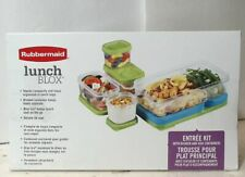 NEW Rubbermaid 1806233 LunchBlox 7-Piece Modular Entree Food Containers