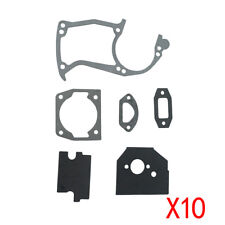 Carburetor Cylinder Engine Gasket Kit Fit 45cc 52cc 58cc Chinese Chainsaw 10Sets