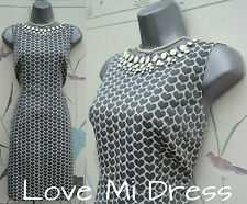 NEXT - Stunning Heart Print Jewel Dress Sz 14 EU42