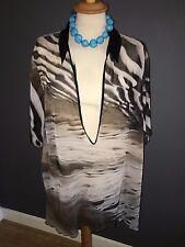 NWT DORIS STREICH SEMI SHEER COLLARED TUNIC STYLE BLOUSE SZ 18 RRP £89.99