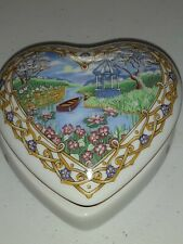 """Heart Shaped Music Box, Valentine Serenades 1991 Heritage House, Plays """"The Way"""