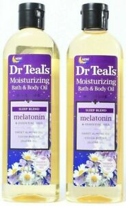 (2 Pack) Dr. Teals Moisturizing Bath & Body Oil Melatonin Sleep Blend 8.8 fl oz