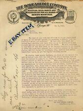 1908 LETTERHEAD Chicago ILLinois BOYE NEEDLE COMPANY sewing J FLANNERY G W BURKE