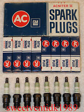 NOS AC-R44T Spark Plugs...'Acniter Printed'...4 Equal Green Rings....GM #5613355