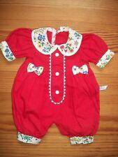 Vêtement Corolle poupon bébé barboteuse rouge Corolle collection de 1996