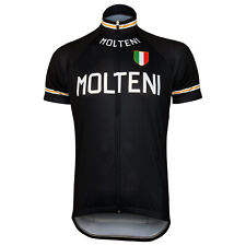 Retro Team Molteni Vintage Cycling Jersey Black Eddy Merckx