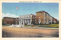 Indianapolis Indiana 1920s Postcard Shortridge High School