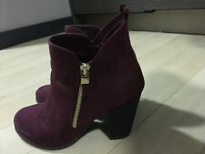 Maroon Heeled Booties Gently Worn Perfect Condition