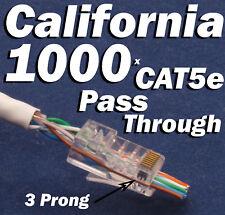 1000 Pcs EZ RJ45 Network Cable Modular Pass Through Plug CAT5e 8P8C Connector 5