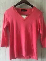 Jones New York Signature Women's Pink Long Sleeve Top Sz M