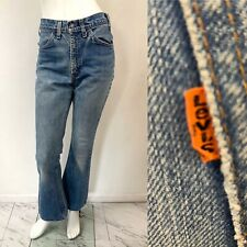 VTG 70s Levis Orange Tab Bell Bottoms 646 Lightwash Flares W- 30""