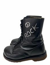 Femme Dr.Martens Cuir Noir Rock UK4 US6 AU6 EU37 XNA844