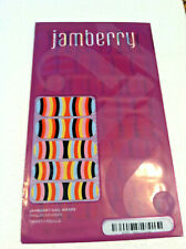 Jamberry A455: Retro Curves Full Sealed Sheet of Retired Nail Wraps: Vivid Color