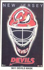 NEW JERSEY DEVILS MASK Original Norman James Poster MINI Promo Piece 3x5