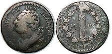 LOUIS XVI 12 DENIERS 1791 BB