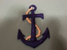 ROYAL BLUE ANCHOR WITH WHITE ROPE EMBROIDERY APPLIQUE PATCH EMBLEM LOT-60 DOZEN
