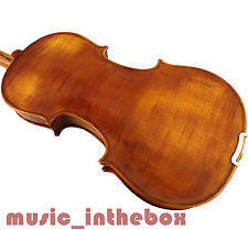 New Great 4/4 Flamed Back Violin +Bow +Rosin +Moonn Shape Case+String Set #H101