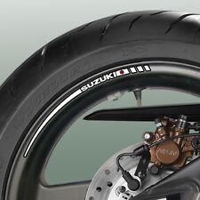 12 x SUZUKI Wheel Rim Stripe Stickers - gsx r 600 750 1000 bandit v-strom sv s